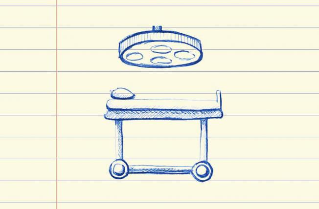 Sketch of a surgical bed
