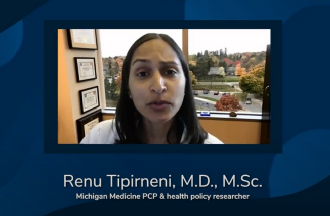 Video thumbnail; health policy researcher talking on camera