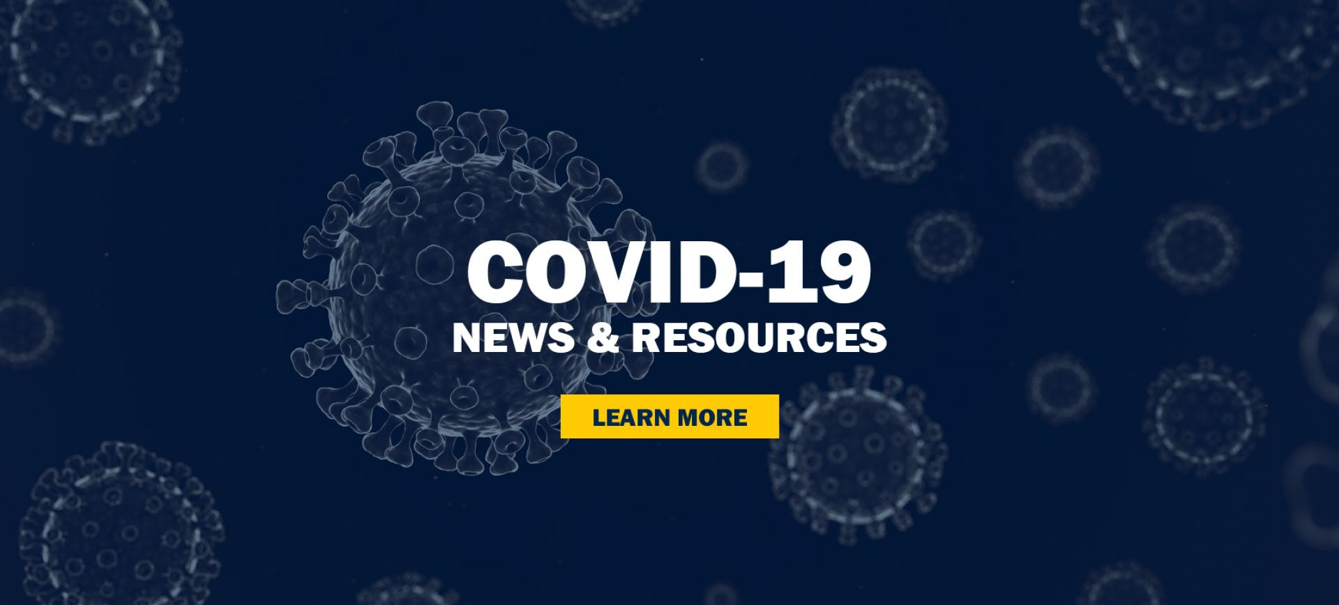 COVID-19 front page banner
